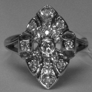 Marquise Plaque Ring