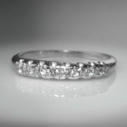 Antique Diamond-Set Platinum Band