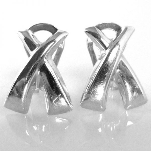 9k White Gold Earrings