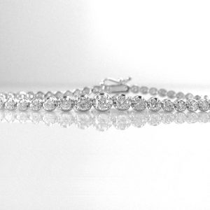 2.5ct Diamond Tennis Bracelet in 18k Gold