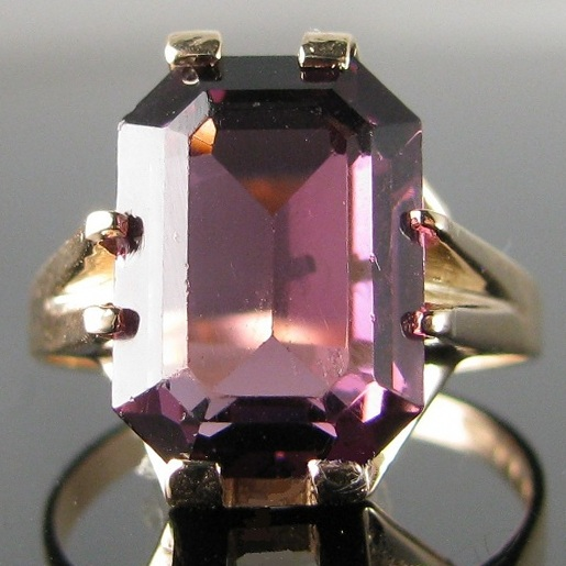 Amethyst Ring in Beautiful Vintage 9k Gold Setting