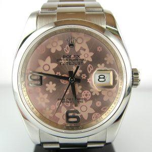 Ladies Pink Dial Rolex