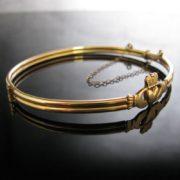 Rolled Gold Claddagh Bangle, Gold Bracelet, Bracelet, Bangle, Fine Jewellery, Jewellery Shop, Jewellers, Galway