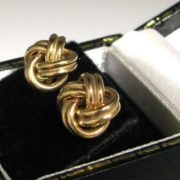 Gold Knot Earrings, Jewellery, Galway, Ireland, The Antiques Room