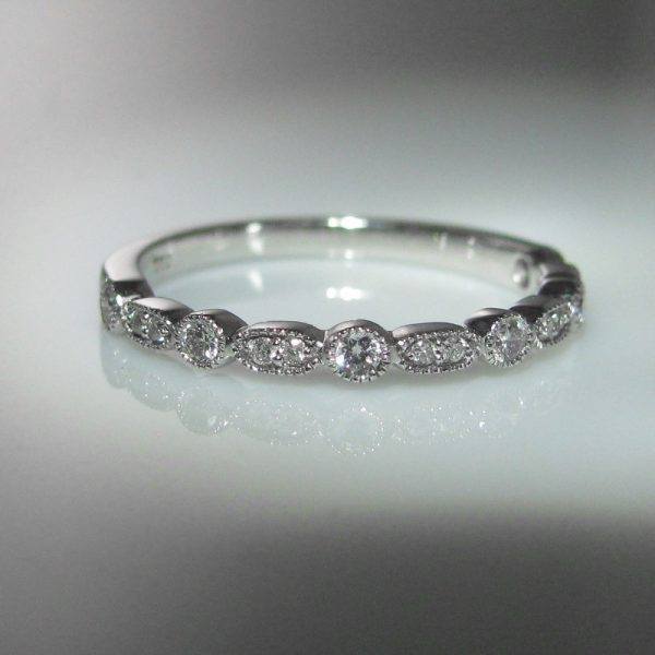 18k White Gold And Diamond Ring, Stacking Ring, Gold Ring, Wedding Ring, Galway, West of Ireland