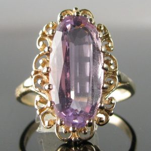 Amethyst Ring in 9k Gold