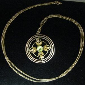 Peridot necklace, Gold necklace, Necklace, Fine Jewellery, Jewellery Shop, Jewellers, Galway, Ireland