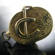 Victorian Jockey Fob Charm With Compass And Dice, Collectibles, Antiques, Rare collectible, The Antiques Room, Galway, Ireland