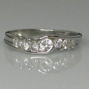 seven stone twist ring