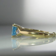 Vintage Topaz And Diamond Ring