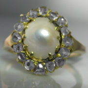 Antique Diamond and Pearl Ring