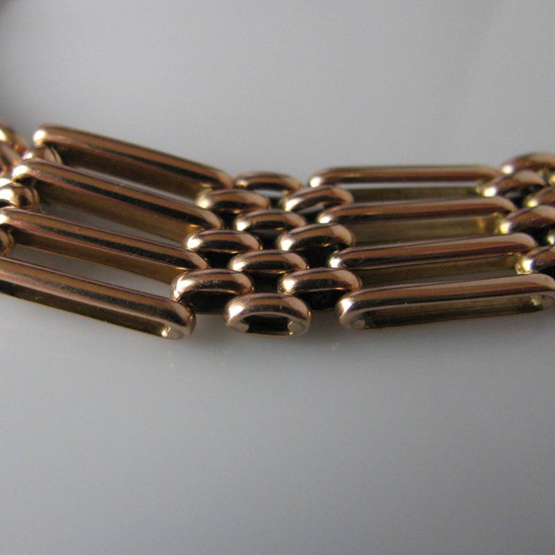 Sold Rose Gold Gate Bracelet In 9k The Antiques Room