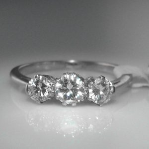 Three Stone Diamond & Platinum Ring, Diamond Trilogy Ring, Diamond Engagement Ring, Diamond Ring, Jewellers, Jewellery Shop, Galway