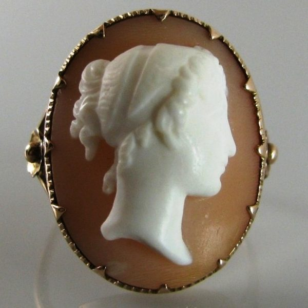Vintage cameo ring in rose gold the antiques room vintage cameo ring in rose gold aloadofball Gallery