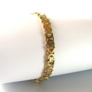 Byzantine Link Yellow Gold Bracelet In 9k, gold bracelet, jewellery, Galway, Ireland, The Antiques Room