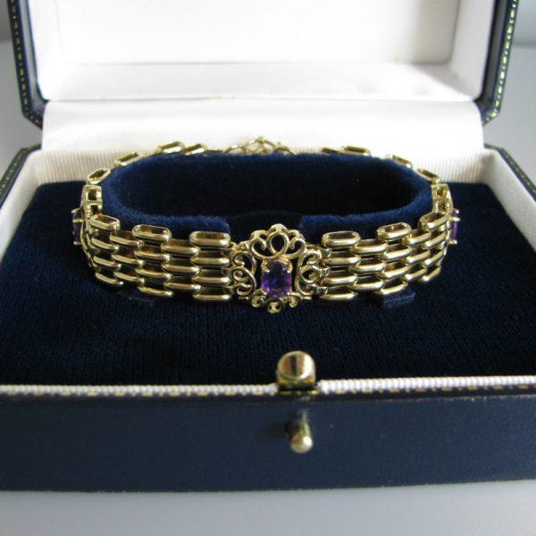 Gold Bracelet With Amethysts, Gold Bracelet, Bracelet, Fine Jewellery, Jewellery Shop, Jewellers, Galway