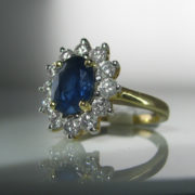 Halo Sapphire And Diamond Ring, Sapphire Ring, Fine Jewellery, Jewellery Shop, Jewellers, Galway