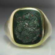 Gents Bloodstone Ring 14k Gold
