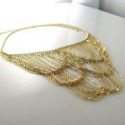 Multi-Strand Gold Bib Necklace - 14k Yellow Gold