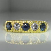 Sapphire and Diamond Ring 18k