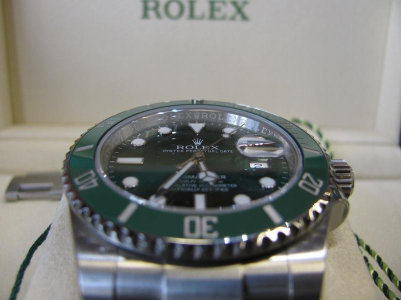 Sold Gents Rolex Green Submariner Date Hulk Edition