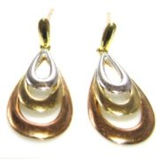 9k Gold Multi Tone Earrings