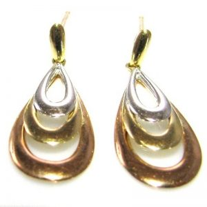 9k Gold Multi Tone Earrings