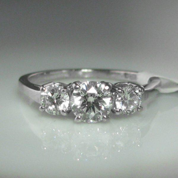 1.0ct Three Stone Diamond Ring, Diamond Trilogy Ring, Diamond Engagement Ring, Diamond Ring, Jewellers, Jewellery Shop, Galway