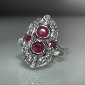 Art Deco Ruby Ring, Jewellery, Galway, Ireland, The Antiques Room, Jewellery Shop, fine jewellery