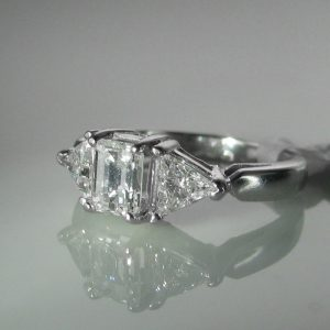 Emerald Cut Diamond Ring, Diamond Engagement Ring, Diamond Ring, Jewellers, Galway