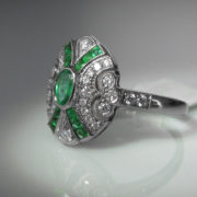 Emerald and Diamond Ring, The Antiques Room, Antique, Jewellery Shop, fine jewellery, Galway, Ireland