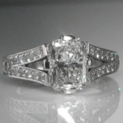 Three Carat Diamond Ring in Platinum (2.04ct Centre Stone GIA Cert)