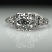 1ct Art Deco Diamond Ring in Platinum