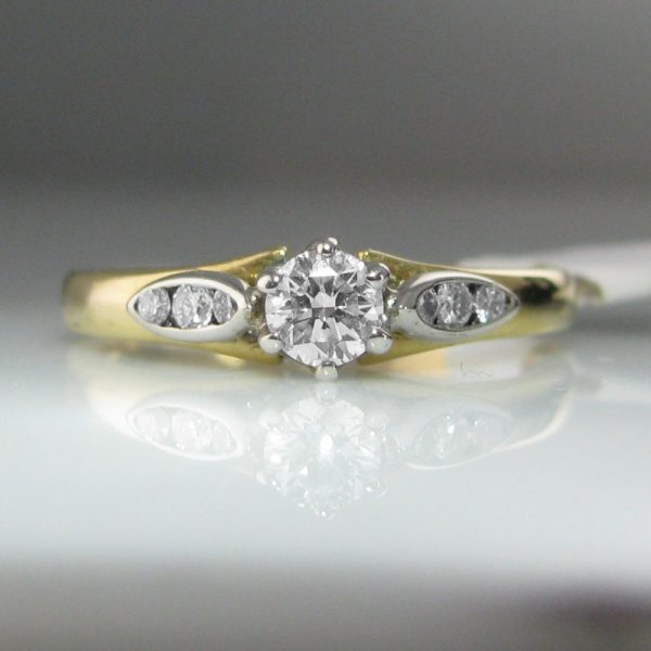 18k Gold Diamond Ring, Ring, The Antiques Room, Jewellery, Galway, West of Ireland