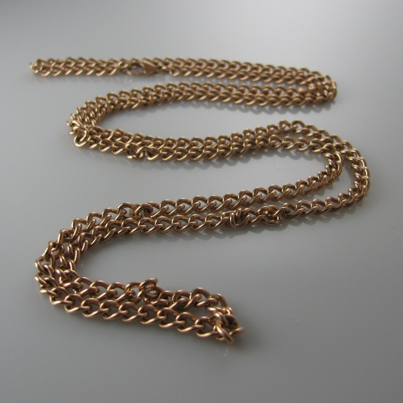 Long Curb Link 9k Rose Gold Chain 33 5 The Antiques Room