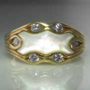 Diamond and Mother of Pearl Ring
