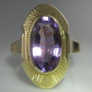 Amethyst Plaque Ring