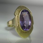 Amethyst Plaque Ring, Gold Ring, Fine Jewellery, Jewellery Shop, Jewellers, Galway