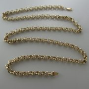 Long Belcher 9k Yellow Gold Chain, Gold necklace, Necklace, Fine Jewellery, Jewellery Shop, Jewellers, Galway, Ireland