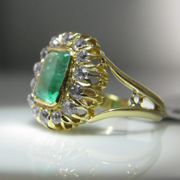 Antique Emerald Ring, Jewellery, Galway, Ireland, The Antiques Room