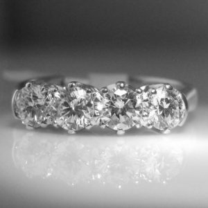4 Stone Diamond Ring in Beautiful Claw Setting