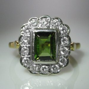 Tourmaline and Diamond Ring, Diamond Ring, Jewellery, Galway, Ireland, The Antiques Room
