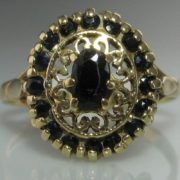 Intricate Sapphire and Gold Ring