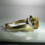 Citrine and Diamond Ring, Citrine Ring, , Diamond Ring, Jewellery, Galway, Ireland, The Antiques Room
