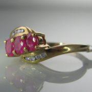 Diamond and Ruby Twist Ring