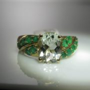 Quartz and Emerald Ring, Cocktail Ring, Emerald Ring, Fine Jewellery, Jewellery Shop, Jewellers, Galway