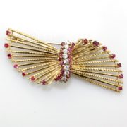 Vintage Ruby and Diamond Brooch