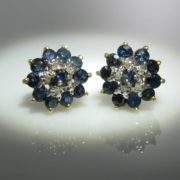 Sapphire and Diamond Earrings, Sapphire earrings, Sapphires, Fine Jewellery, Jewellery Shop, Jewellers, Galway