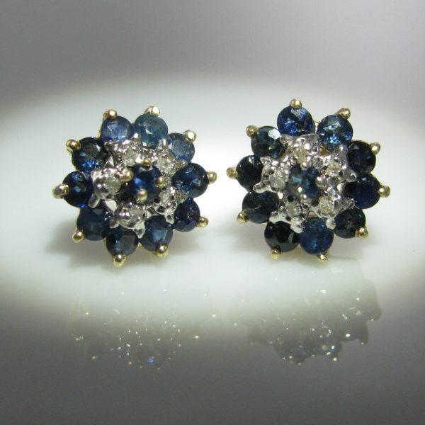 Sapphire and Diamond Earrings, Sapphire earrings, Sapphires, Fine Jewellery, Jewellery Shop, Jewellers, Galway
