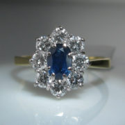 Sapphire and Diamond Cluster Ring, Jewellery Shop, fine jewellery, Galway, Ireland